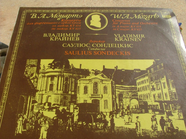 V.Krainev Play Mozart concerto 4 piano & orchestra in A major & C minor Melodiya
