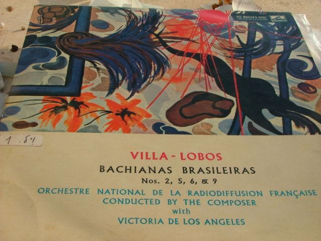 Villa-Lobos Bachianas Brasileiras Nos 2,5,6,9 Record LP Made in Israel , RARE