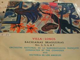 Villa-Lobos Bachianas Brasileiras Nos 2,5,6,9 Record LP Made in Israel , RARE image 1
