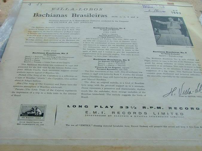 Villa-Lobos Bachianas Brasileiras Nos 2,5,6,9 Record LP Made in Israel , RARE image 3