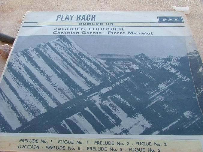 The Jacques Loussier TRIO Plays Bach Number 1 Concerto ISRAEL RARE VINYL RECORD