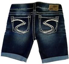 Silver J EAN S Shorts Low Rise Camden Stretch Cuffed Denim Jean Shorts 28 - $29.97