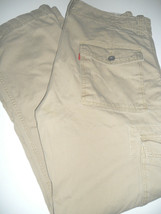 LEVIS JEANS 40 x 30 Loose Straight Classic 6 Pocket Cargo Soapstone Pants - $24.99