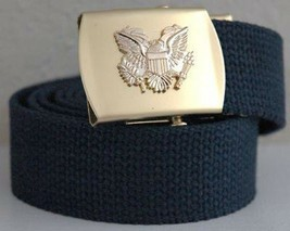 United States Eagle Military Blue Belt & Buckle - $17.81