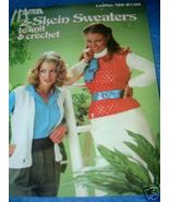 Leisure Arts, 2-Skein Sweaters to Knit & Crochet  OOP - $3.50