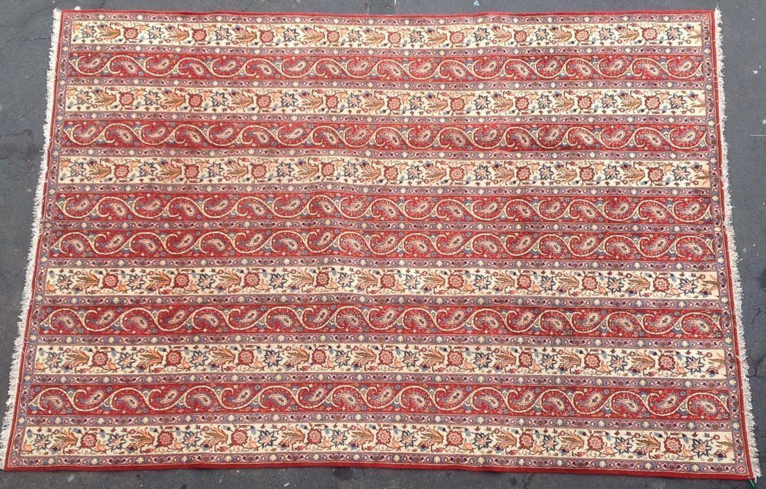 "Primary image for Oriental Cultural Design Hand Made Area Rug 8'4"" x 11' early 1960"
