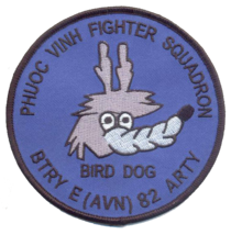 Us Army Bird Dog Btry E 82 Arty (Avn) 4'' Patch - $13.85