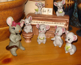 ANTHROPOMORPHIC JAPAN ENESCO MOUSE MICE BAND PIANO CHOIR TOOTHPICK HOLDE... - $397.99