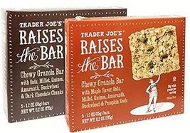 Trader Joe's Raises the Bar Gluten Free Chewy Granola Bars Variety Bundle: 2 Box
