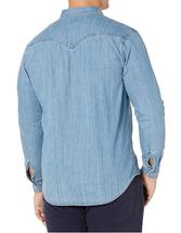 Levi's Men's Big & Tall Barstow Western Pearl Snap Casual Denim Dress Shirt image 6
