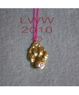Gold-tone Werewolf Paw Print Pawprint on Pink Chain - $5.99