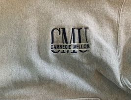 Vintage Carnegie Mellon Tartans Champion Reverse Weave Hoodie Sweatshirt Sz M image 3
