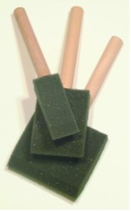 Foam Brushes Jen Wood handle Disposable 2