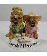 "The Wisdom of Zelda Bulldog figurine - Friends Fit to a ""Tea"" Friendship... - $49.50"