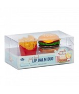 Novelty Fast Food Lip Gloss Duo (Burger and Fries) Vanilla & Cotton Cand... - $8.99