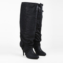 Givenchy Black Leather Drawstring Boots SZ 39 - $435.00