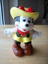 Disney Vintage Japan Minnie Mouse Cowgirl Figurine - $35.00