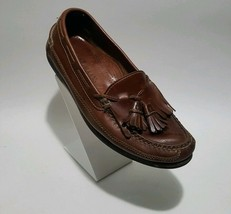 Cole Haan 'genuine handsewn' kilt tassel brown leather US 9.5 M loafers - $34.65