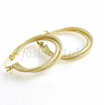 fashion1uk 2 in 1 Modern Sparkling Hoop Earrings 28x25mm Medium 14K Gold... - $285,23 MXN