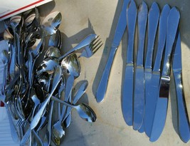 59 pcs RETRONEU ROSEANNE Stainless Steel 18/8 Fork Spoon Knives  KENT NO... - $499.00