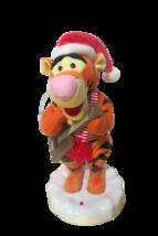 "Gemmy Animated Disney Tigger Singing Dancing Christmas Figurine 17""T Video - $49.45"