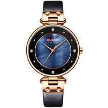 CURREN 9056 Fashion Crystal Case Casual Dial Women Quartz Watch - $19.93