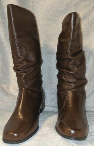 St. John's Bay Genuine Leather Mid Calf Block Heel Boots