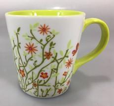 Starbucks Spring Green Flowers Butterflies Coffee Mug Cup 12 oz 2007 - $28.91