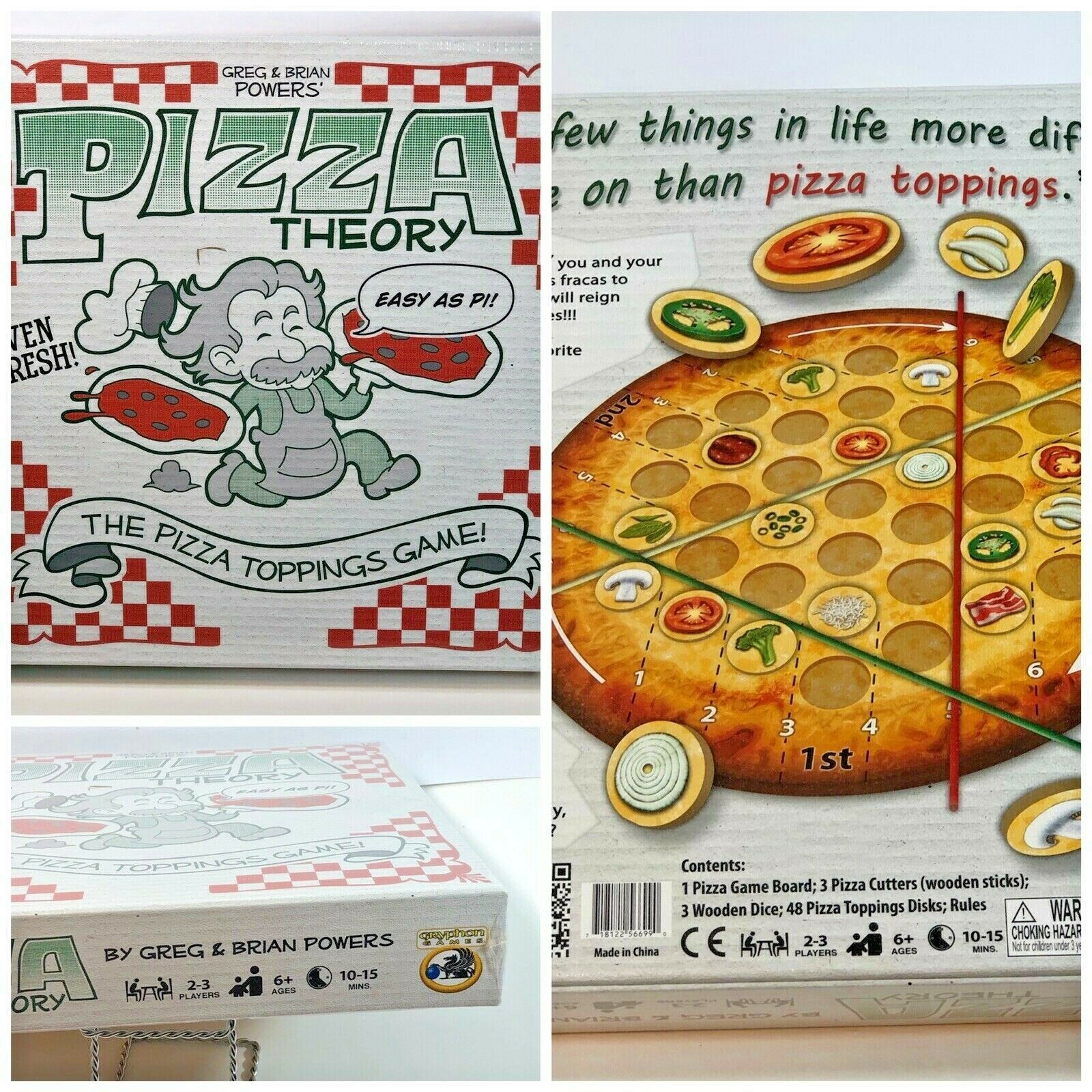 Primary image for Pizza Theory Board Game The Pizza Topping Game Easy as Pi Ages 6+ New in box