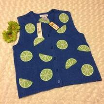 Robert Scott ladies sweater vest lime Medium  - $16.44