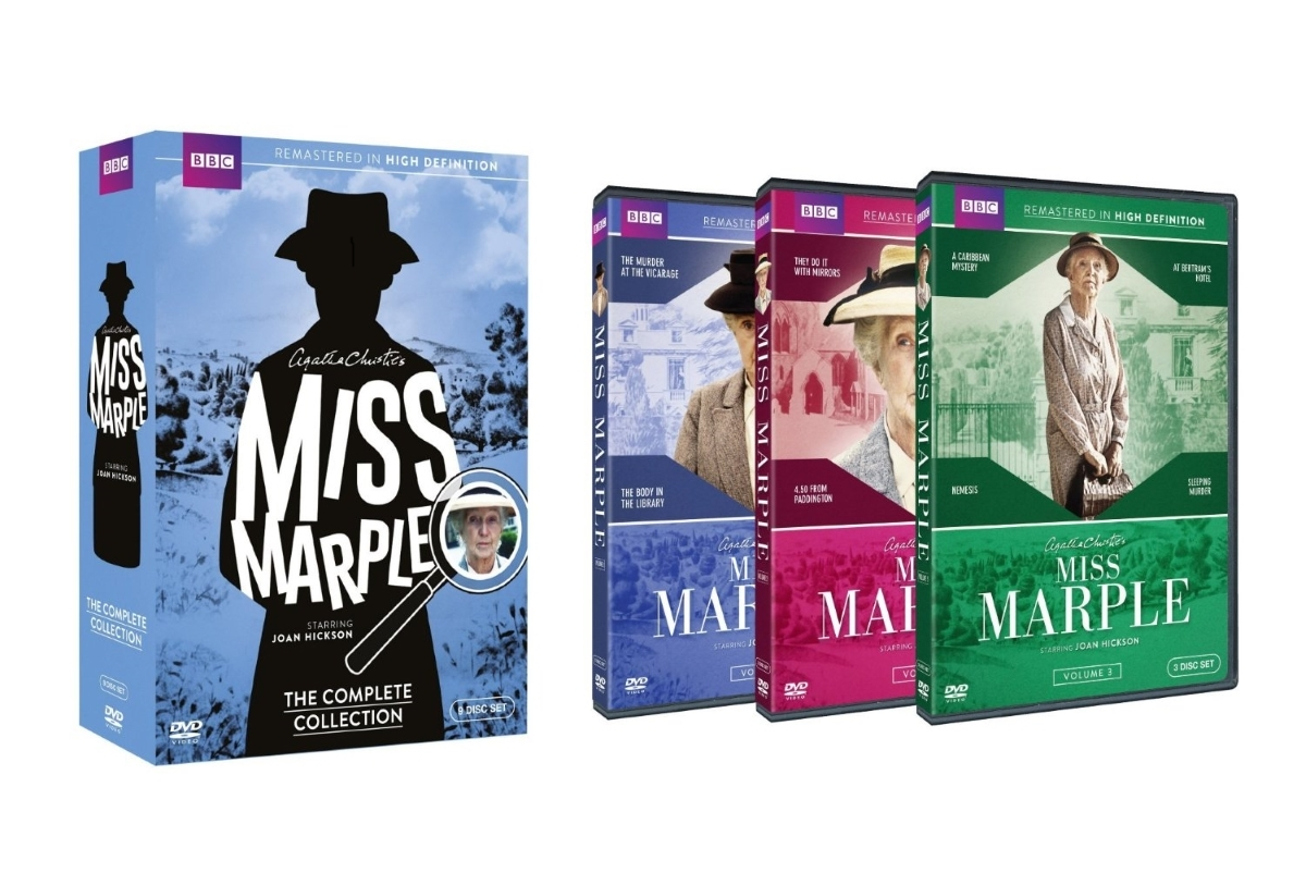 Miss marple the complete collection 1 3  dvd 2015 9 disc  free shipping new2