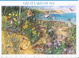 GREAT LAKES DUNES - 10 stamps x .42 cts (USPS) MINT STAMPSHEET - $10.95