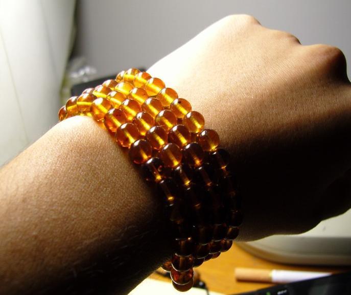 "27"" NATURAL Yellow Crystal 108 Prayer Beads Mala"