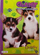 Doggy Days Coloring Book Giant Tear and Share Pages of Dogs and Puppies New - $2.99