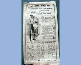 1912 antique  MEN'S FRENCH FASHION CATALOG w/FABRIC~AU BON MARCHE paris ... - $67.95