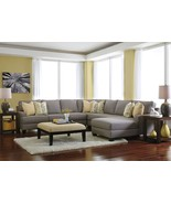 CIARA - 5pcs Modern Gray Microfiber Sofa Couch Chaise Sectional Set Livi... - $1,924.76