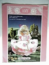 """Amy Doll Dress And Pinafore Pattern Booklet For 11 1/2"""" Doll - $5.89"""