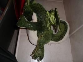 "FOLKMANIS Puppet Folk Tails Plush Green Dragon Puppet Wings Tongue 15"" - $15.35"