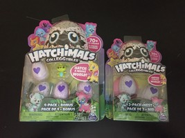 Hatchimals Colleggtibles 4 Pack Bonus Green & 2 Pack Nest Mystery Mini Brand New - $23.75