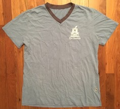 Spa Castle Blue Short Sleeve Tee T-Shirt Large L - $19.99