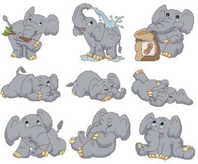 Primary image for Cute Elephants cross stitch chart Cross Stitch Wonders