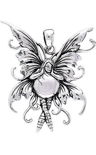 Jewelry Trends Sterling Silver Bubble Rider Fairy Pendant