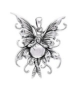 Jewelry Trends Sterling Silver Bubble Rider Fairy Pendant - $61.99