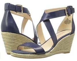 Nine West Women's Jay Leather Wedge Sandal - Navy, 11 M US - $94.05