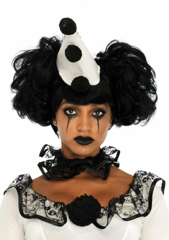 Leg Avenue Pierrot Clown Sexy Gothic Dress Adult Womens Halloween Costume 86658 image 3