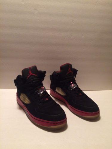 cheap for discount e3dff 3a95d 12. 12. Previous. Nike Air Jordan AJF 5 Men s Shoes Size 12 Black Red V  Fusion Athletic 318608-