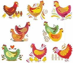 Jacobean Hens cross stitch chart Cross Stitch Wonders - $10.80