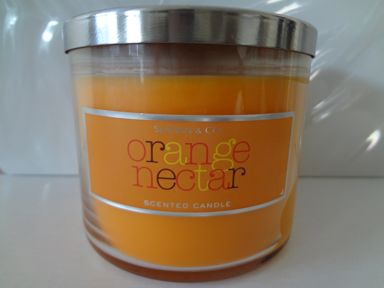 Bath & Body Works Slatkin & Co. ORANGE NECTAR Scented Candle 14.5 oz / 411 g