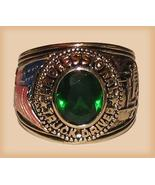 Cool Dark Green Trucker Truck Driver Men's Ring Sparkling CZ Size 11 Yel... - $19.99