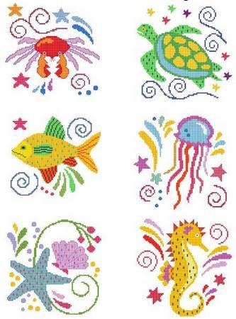 Primary image for Jacobean Sea Friends 2 cross stitch chart Cross Stitch Wonders